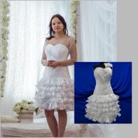 Короткое свадебное платье Лея