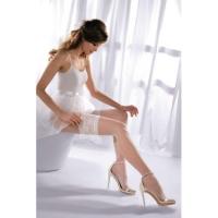 Белые чулки и колготки для невесты